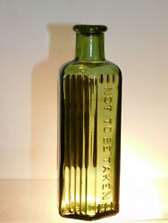 Antique Bottle Poison Awesome Straw Olive Green 4oz Boots Chemist Bottle 1920and039s