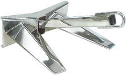 Marine Boat Allpa Stainless Steel Pool Anchor Polished 35kg