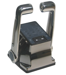 Marine Boat Dual Action Top Mount Control Outboard Style Chrome Ptt Processor