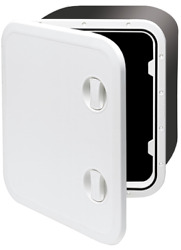 Marine Boat Plastic Hatch 459x514x330mm 2 Handle 180 White Cover Hinge Removable