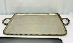 Antique Silver 800 Extra Large Rectangular Handled Tray 27 X 15.5inch