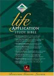 Life Application Study Bible, New Living Translation By Tyndale Excellent