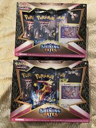 Pokemon Tcg 2021 Shining Fates Mad Party Pin Collection- Bunnelby Lot Of 2