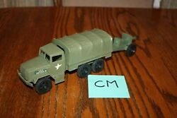 Timmee Processed Plastic 2.5-ton Army Truck And Tarp And Cannon Cm - Marx, Mpc