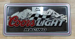 """Coors Light Mirror Beer Sign With Logo Hanging Sign 15""""w X 30"""" L"""