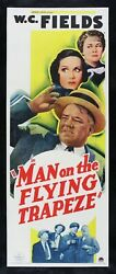 Man On The Flying Trapeze ✯ Cinemasterpieces W.c. Wc Fields Movie Poster 1935