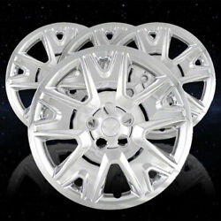Set Of 4 Wheel Covers To Fit 2013-2016 Ford Escape 5 Spoke 17 Inch - Chrome
