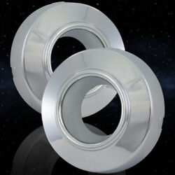 Auto Reflections Front Chrome Open Center Caps For 1999-2004 Ford Super Duty 4wd