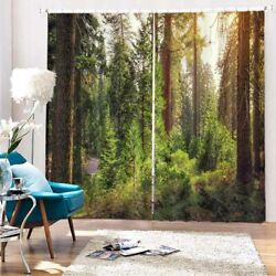 Tree Hole Forest Stage 3d Curtain Blockout Photo Printing Curtains Drape Fabric