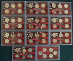 1999 - 2020 Silver Quarter Only Proof Sets 23 Set Package - 116 Coins