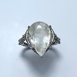 Very Rare 7.5cts Natural Cats Eye White Topaz 925 Silver 9ct 14k 18k Gold Ring