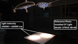 Ceiling Light Surgical Operating Lamp Operation Theater Light 48+48 Led Via Dhl