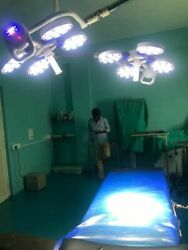 Led Ot Light Common Arm Surgical Operating Shadowless Light Double Lamp 404 Led
