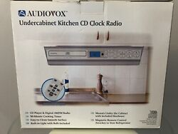 Audiovox Undercabinet Kitchen Cd Clock Radio With Remotemodel Kcd3180