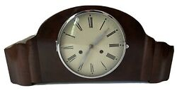 Antique German Mauthe Deco Mantle Bing Bong Chime Clock 565049 With Key Pendulum