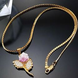 Vintage 90s Avon Porcelain Blossom Seed Pearl Necklace Estate Jewelry