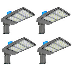 4pc 300w Outdoor Light Led Street Commercial Light W/photocell Ball Court Lights