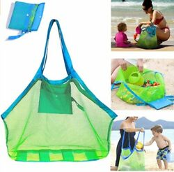 SupMLC Mesh Beach Bag Extra Large Beach Bags and Totes Tote Backpack Toys Towels $17.50