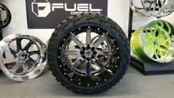Fuel Maverick 24x14 Two Piece Mounted On 37/13.50r24 Mt Tires Wheel Tire Package