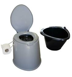 Camping Toilet Lightweight Portable With Seat Festivals Outdoor Fishing Caravan