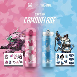 Overwatch X Thermos D.va Mei Camouflage 304 Stainless Steel Vacuum Mug Cup