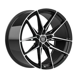 4 Hp1 19 Inch Staggered Black Rims Fits Ford Fusion 2006 - 2012
