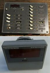 Blue Sea Dc Panel 13-position With Multimeter 8403 W/ Extra Dc Volt Meter