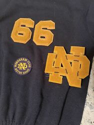 Notre Dame Vintage Sweater 1966 Pullover Sweater W/ Monogram Patch And Nd Letter