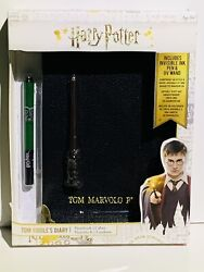 Harry Potter Tom Riddle's Diary Secret Notebook W/ Invisible Ink Pen And Uv Wand