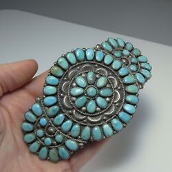 Barrette Hair Clip Sterling Silver Turquoise Native American Indian 925 Navajo