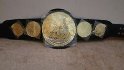 Tag Team Wrestling Champions Belt A Grade Leather Replica Metal Plates Adult