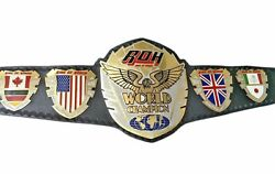 Ring Of Honor Wrestling Champion Belts Leather Thick Metal Plates Adults Replica