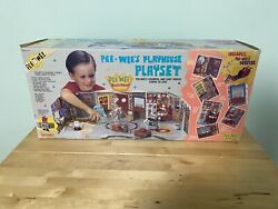 Pee-wee's Playhouse - Vintage 1987 Matchbox Playset W/ 5 Moc Action Figures.