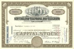 New England Telephone And Telegraph Company - Stock Certificate