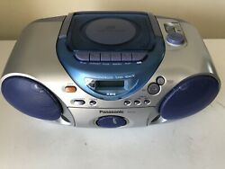 Vintage Panasonic Stereo Radio Cassette Cd Player Rx-d15 Portable Boombox Tested