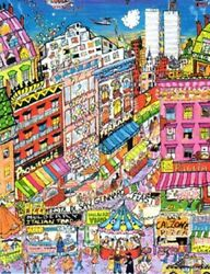 Charles Fazzino Little Italy Sold Out Limited Edition 3-d