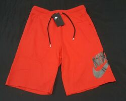 Nike Sportswear French Terry Shorts Menandrsquos Red Black - At5267-659