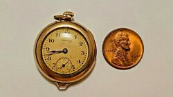 Vintage Hamilton 17 Jewels Gold Filled Pocket Watch For Repair Parts