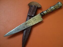 Luxury Antique Xixc Uruguay Creole Knife Mailhos French Delaire Forge Silver Gol