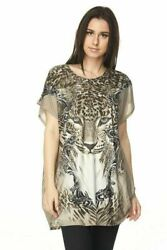 Blossom By P Plus One Size Tunic Tops Cap Sleeves Fits Up To Size 2x