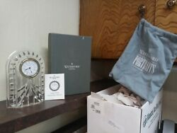 Waterford Crystal Large 8.5 Inch Tall Clock With Instructions And Box