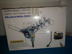 Pbd Wa-2608 Digital Amplified Outdoor Hd Tv Antenna With Mounting Pole