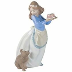 Lladró Nao Puppy's Birthday Porcelain Girl With Puppy Figurine