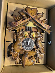 New In Box Antique Vintage Kaiser Hunting Cuckoo Clock Wall