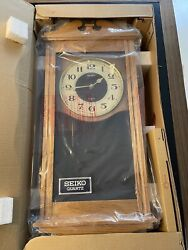 New In Box Vintage Seiko Wall Pendulum Clock With Chime