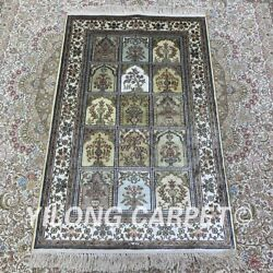 Yilong 2.5'x4' Handknotted Silk Carpet Traditional Home Interior Area Rug H160b