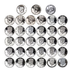 1964-2017 S Kennedy Proof Half Dollar 90 Silver Proof Run Coins Gem Deep Cameo