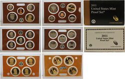 2011 Proof Set 10 Pack Cn-clad Kennedy State Quarters - Ogp 140 Coins