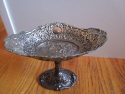 Large 1886-1928 Silverplate Eg Webster And Son Candy Dish Ornate