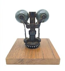 Antique C. 1890s - 1910s Early Vertical 2 Ball Fly Governor, For A Steam Engine